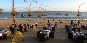 Bali Jimbaran Bay Beach for Seafood Dinner
